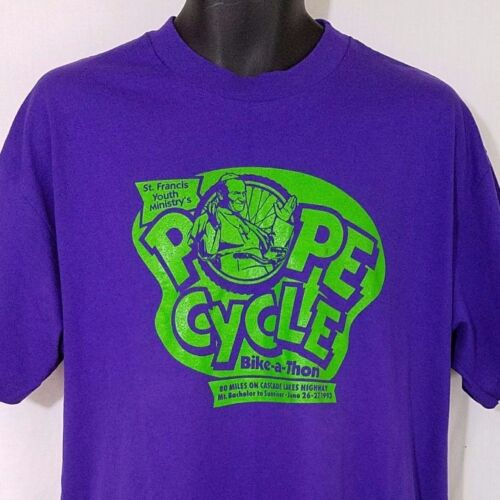Pope John Paul II T Shirt Vintage 90s 1993 Cycle B