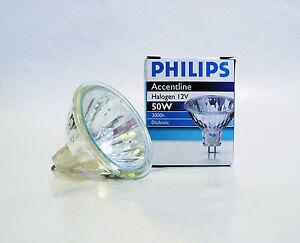 10 X New Philips Accentline 50w Dichroic Mr16 Halogen 12v