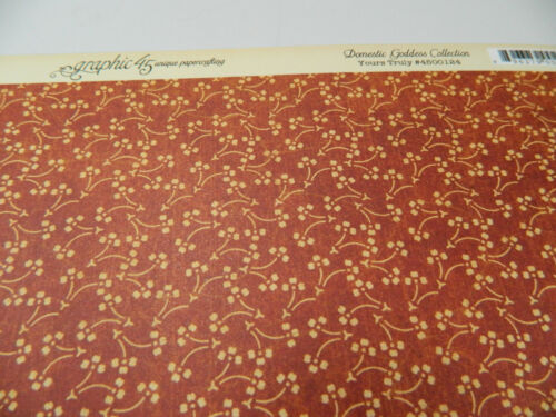 Graphic 45 Scrapbook Paper 12x12 Domestic Goddess Yours Truly100 Double Sides