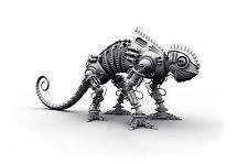 Enmarcado impresión-robot (Imagen Cartel animal Lagarto Camaleón Serpiente Gecko Art)