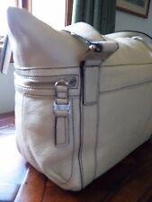 Kenneth Cole Reaction Leather Cream Handbag Tote Bar None HR50979LE $178