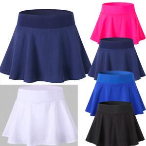Women-Girl-Sport-Yoga-Dance-High-Waist-Pleated-Tennis-Short-Skirt-Skort-Culottes