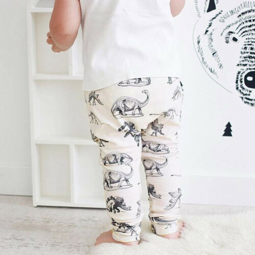 2PCS Infant Toddler Baby Boy Girl T-shirt Tops+Pants Tracksuit Outfit Clothes UK
