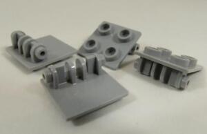 Lego 50 New Light Bluish Gray Hinge Brick 2 x 2 Top Plate Thin Pieces