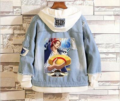 Liberal One Piece Shanks Cosplay Anime Kapuzen Jeans Jacke Hoodie Hooded Jacket Coat Geeignet FüR MäNner Und Frauen Aller Altersgruppen In Allen Jahreszeiten