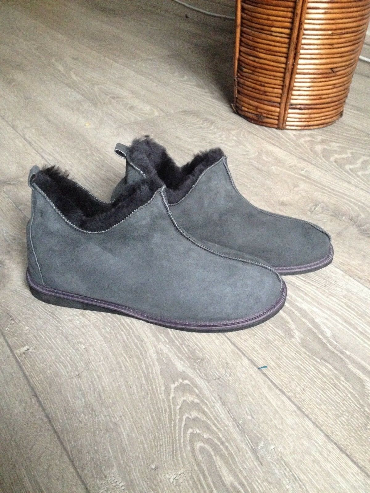 Luxury Men's Boots Slippers 100% natural Fur