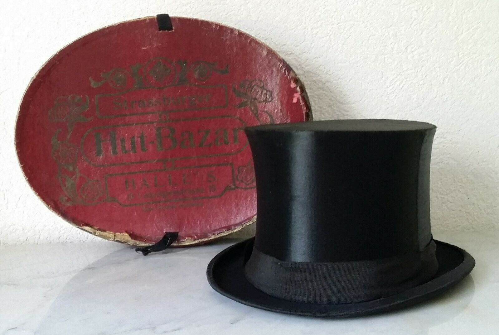Old Old Old Cylinder Folding Chapeau Claque Unbreakable D.R.G.M. for Knuckle of Pork 7cb