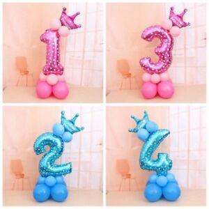 PT-Cn-Numero-Palloncini-Stagnola-81-3cm-Elio-Festa-di-Compleanno-Decorazion