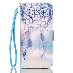 PU Leather Wallet Case Flip Cover Kickstand Card Slot for Phones Key Wind Bell