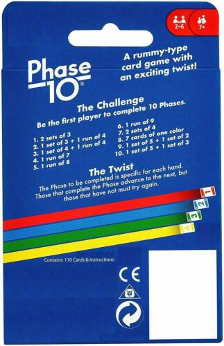 es Phase 10 CARD GAME Children Friend Adult Family Fun Travel Party