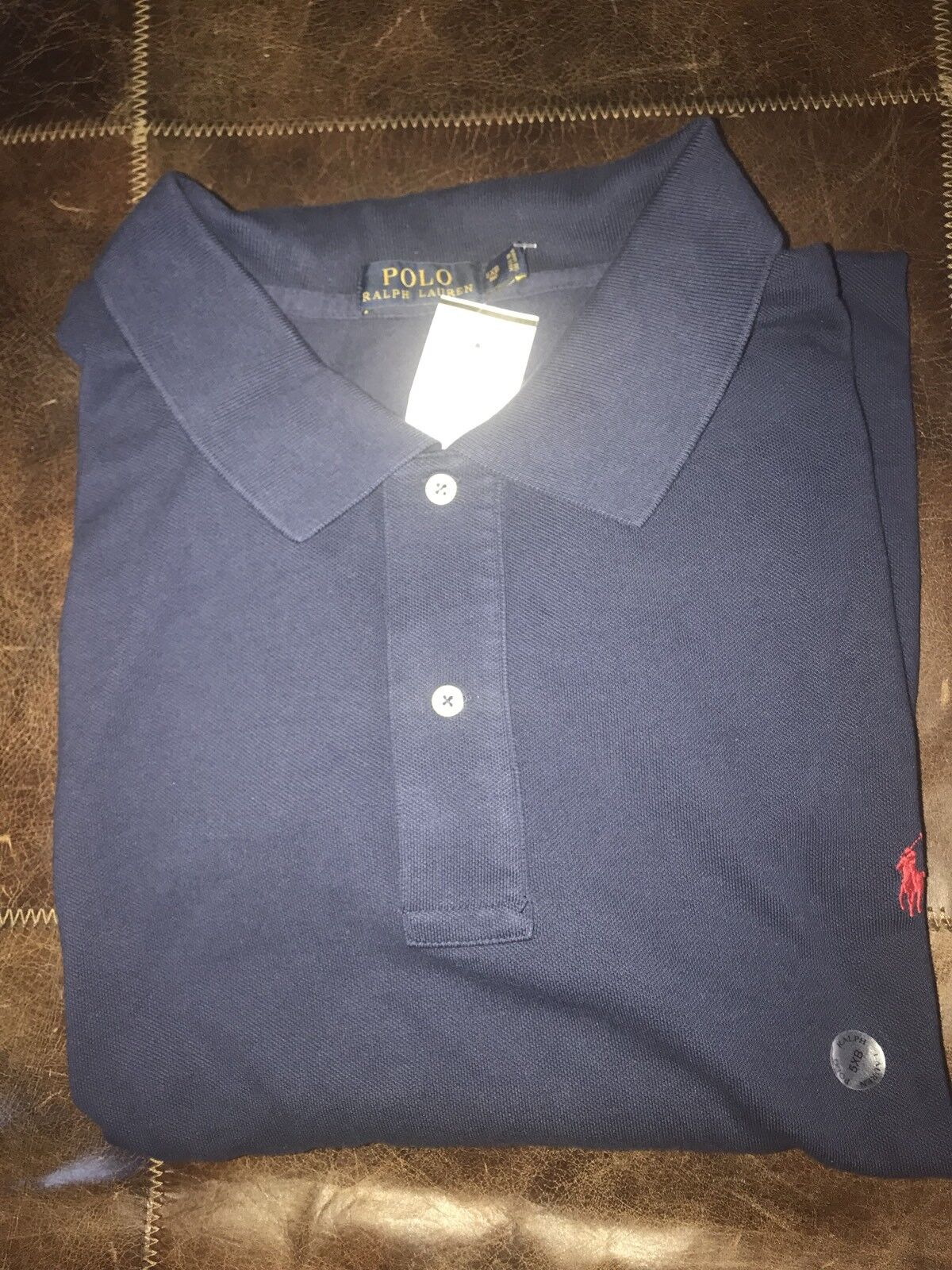 New Polo Ralph Lauren Men Small Pony Shirt 5XB 5XBIG Mesh Cotton Long Sleeve