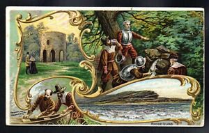 RODE ISLAND ARBUCKLE COFFEE history of united states c1880s VICTORIAN TRADE CARD