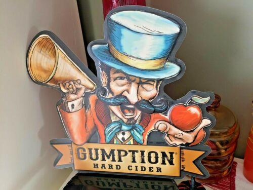 GUMPTION HARD CIDER METAL TIN TACKER WALL HANG MAN CAVE SIGN NEW