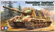 """Tamiya 35295 Panzerjager """"Jagdtiger"""" (Sd.Kfz.186) Fruhe Produktion 1/35 Kit NIB"""