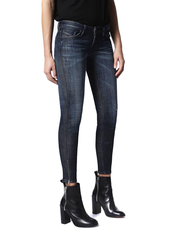 Diesel Skinzee-Low-Zip 0679Z women Pantalones Vaqueros Ajustados Super Slim