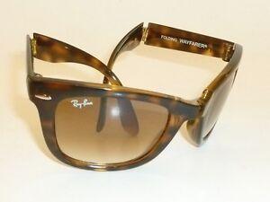 afee4005c45 RAY BAN Sunglasses FOLDING WAYFARER Tortoise RB 4105 710 51 Gradient ...