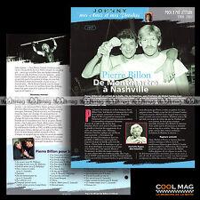 #jh023.10 ★ PIERRE BILLON & JOHNNY ★ Fiche JOHNNY HALLYDAY