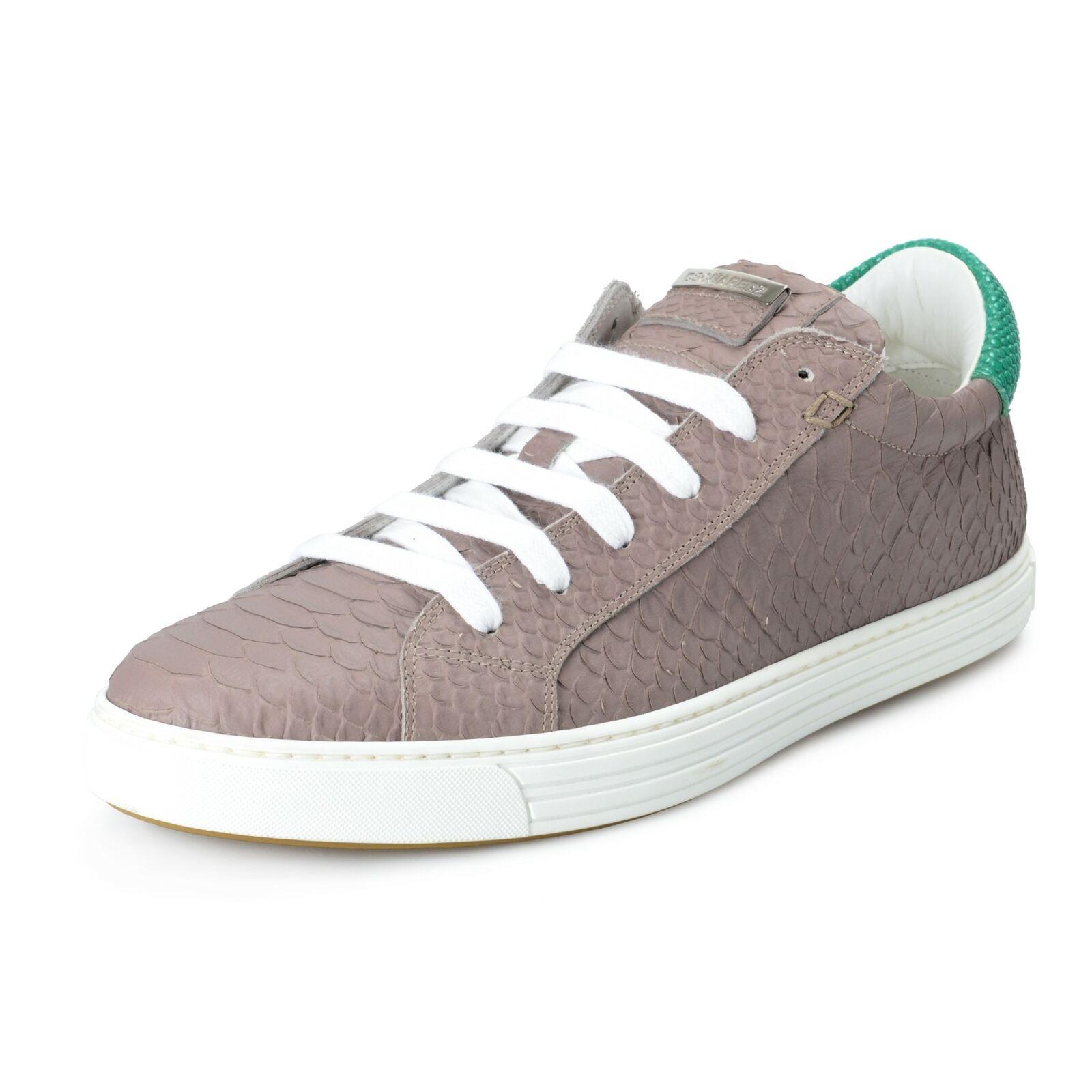 DSQUArojo 2 Para hombre Cordón de Cuero Moda Tenis Zapatos EE. UU. 9 it 42