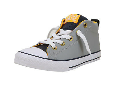 Converse Shoes Boys Girls Chuck Taylor All Star Mid Wolf Grey//Midnight Nvy//White