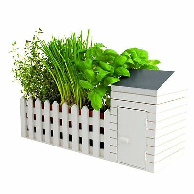 Indoor Allotment Mini Garden Shed Grow Herbs & Veg Gardening Gift Set For Home