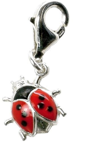 STERLING SILVER LADYBIRD//BUG CHARM WITH TRIGGER CLASP