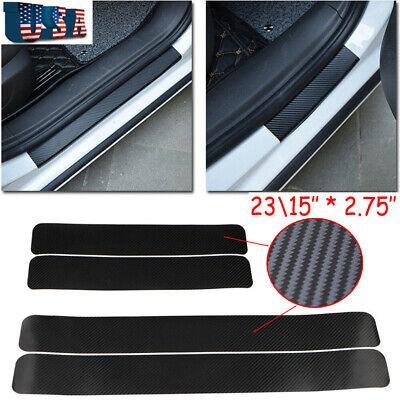 4x 5D Carbon Fiber Cover Car Side Door Edge Protection Guards Trims Stickers