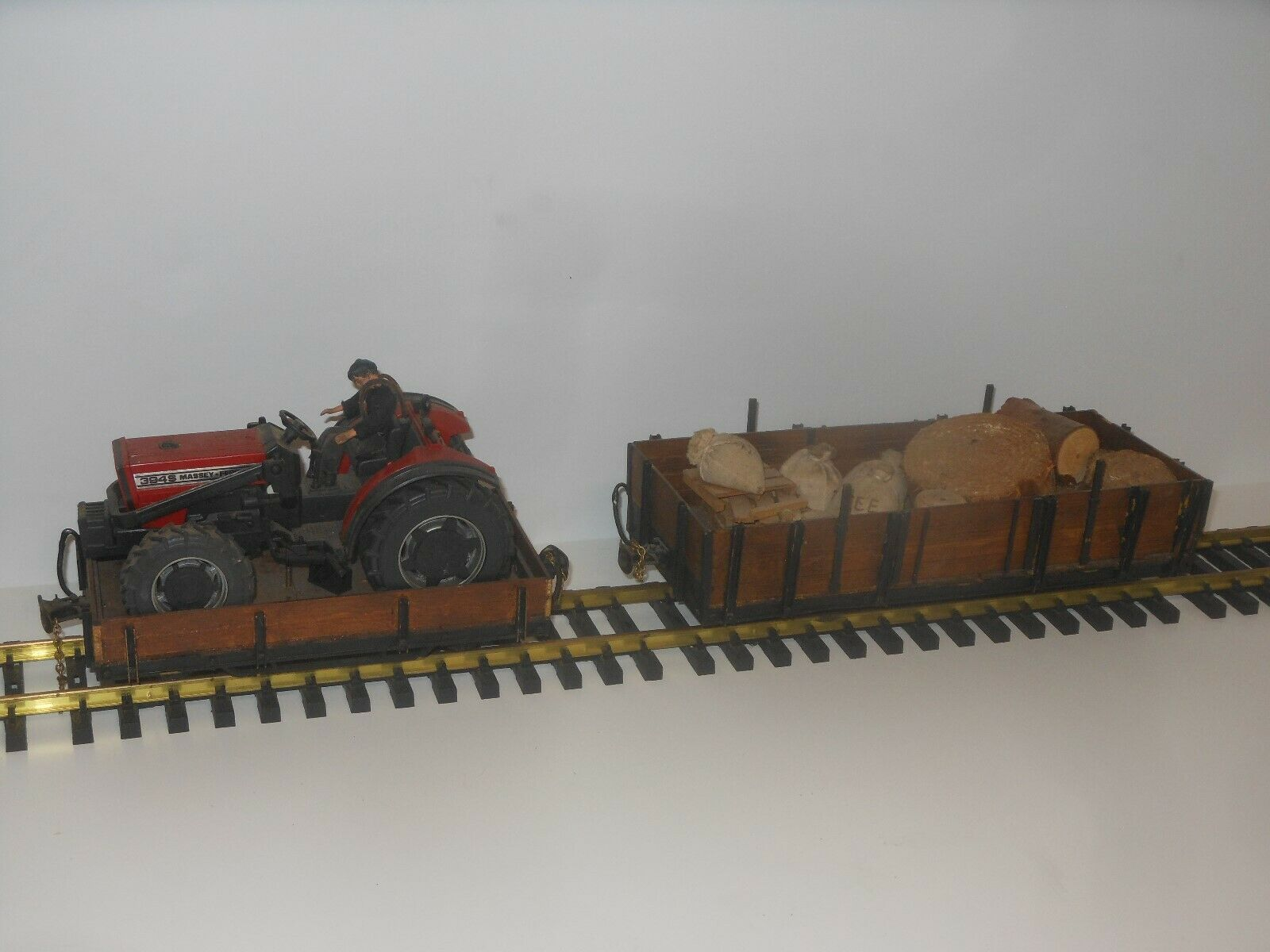 Escala G - Alta Calidad Handarbeitsmodelle - Alto + Vagón de Bordes Bajos con