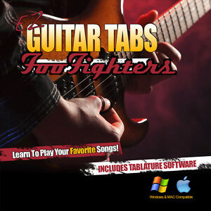 foo fighters tab learn how to play guitar tablature tab software cd grohl ebay. Black Bedroom Furniture Sets. Home Design Ideas