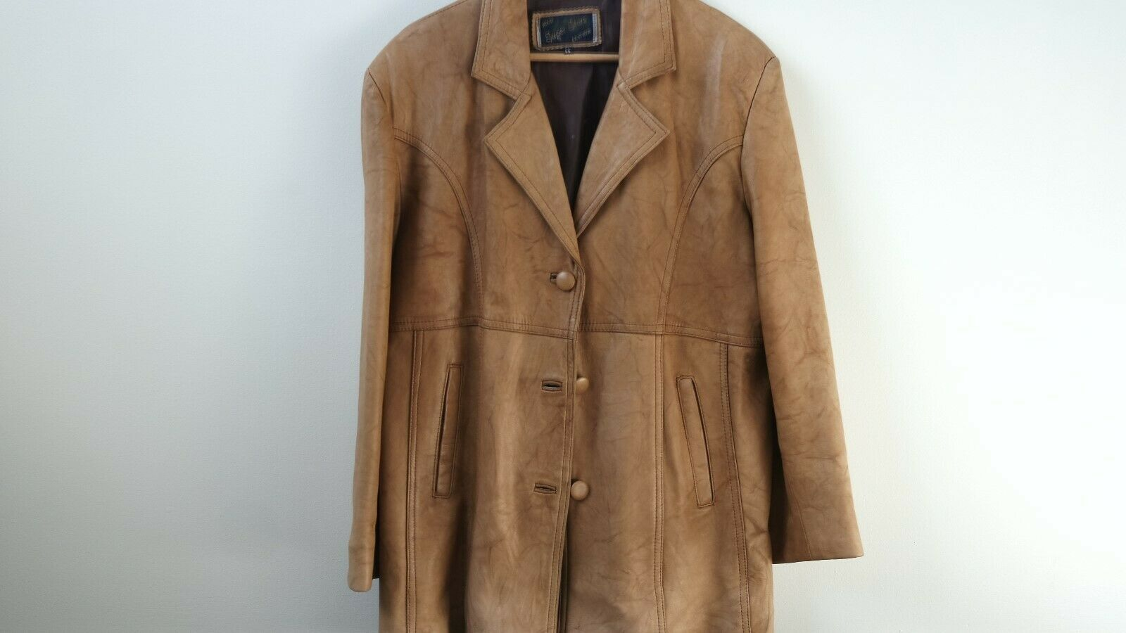 femmes Beige cuir Blazer Mid-Season Outwear - Pre-Owned