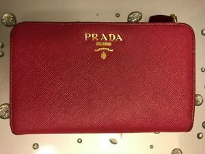 45b9dc1cc31e Image is loading PRADA-Medium-Saffiano-Leather-Wallet-Card-Money-Holder-