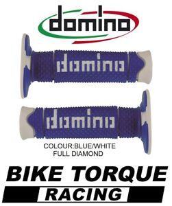 BMW G450 X Domino Full Diamond Grips Blue / White