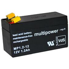Multipower Blei-Gel Akku AGM MP1.2-12 12V 1,2Ah Batterie Accu bgl. CTM CT1.2-12