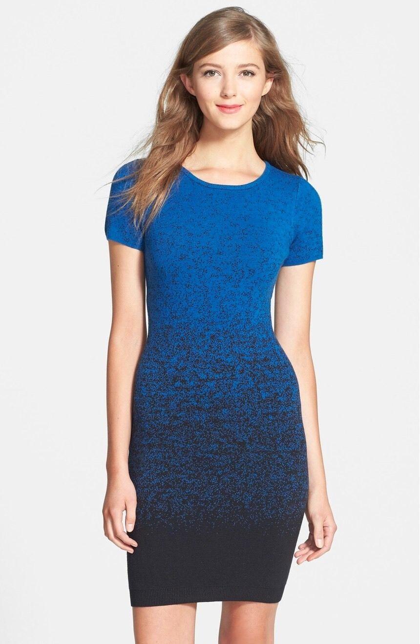 Felicity & Coco Women's Ombré Bodycon Sweater Dress Size M  118