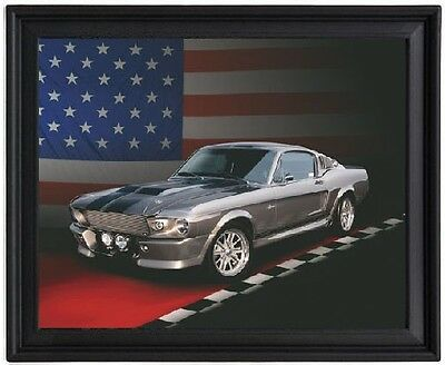 """FORD MUSTANG GT500 ELEANOR A4 CANVAS PRINT POSTER 11.7/"""" x 7.6/"""""""