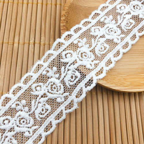 5Meters 31MM White Lace Trim Ribbon Crocheted Cotton Fabric DIY Sewing Craft