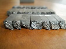 26 Vintage Metal Typeset Letterpress Ornate Victorian Letters Approx 16 Font