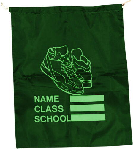 1 X Drawstring Bag Backpack Sack Waterproof Gym Pe Swim School Book Kids Shoe