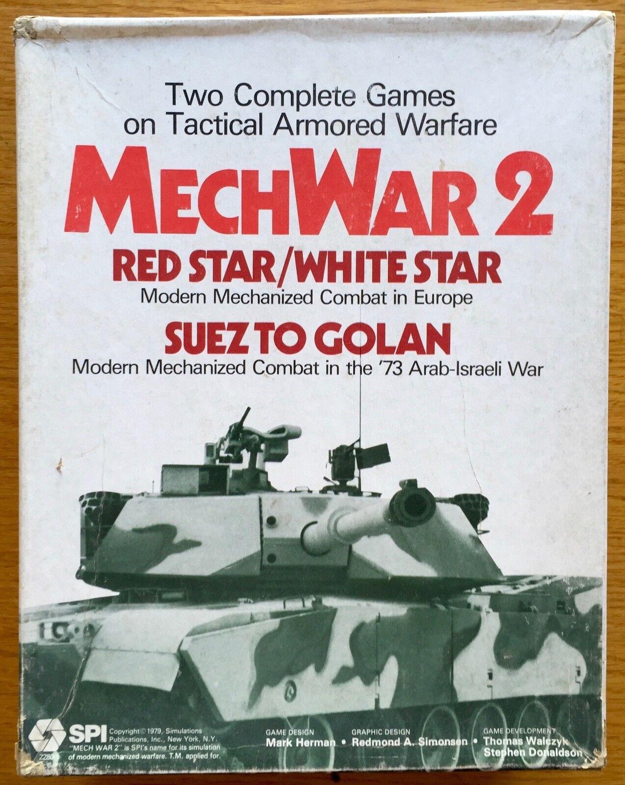 MechWar 2 - rosso Star bianca Star - Suez To Golan - SPI 1979 - Ottimo - UNPUNCHED