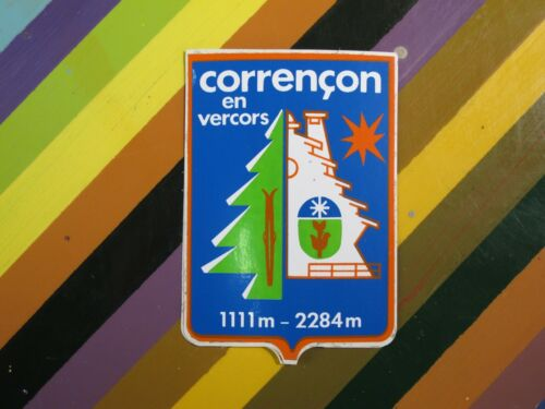 France Chamrousse Dolomiti Savoie Pyrenees+ vtg 1970s 1980s Ski Skiing sticker