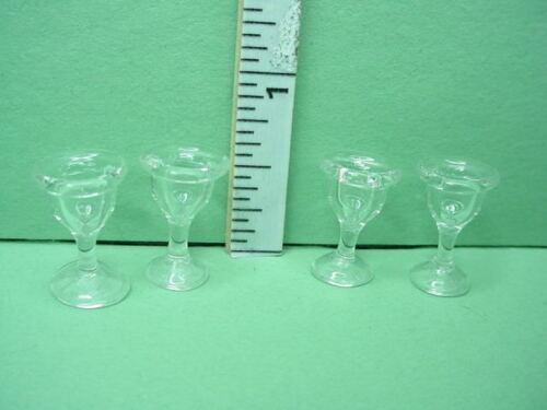 Miniature Clear Dessert Glasses Set of 4 Bright Delights #HB009 -1/12