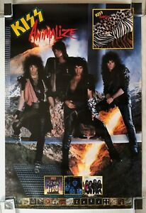 KISS-Animalize-1984-US-Mercury-PROMO-Only-POSTER-Gene-SIMMONS-Paul-STANELY-Minty