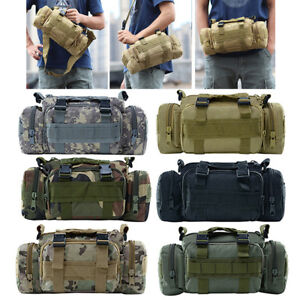 Camping & Hiking Sports & Entertainment Outdoor Camouflage Waterproof Sports Bag Multi-functional Military Tactical Messenger Pack Hiking Camping Oxford Shoulder Bags