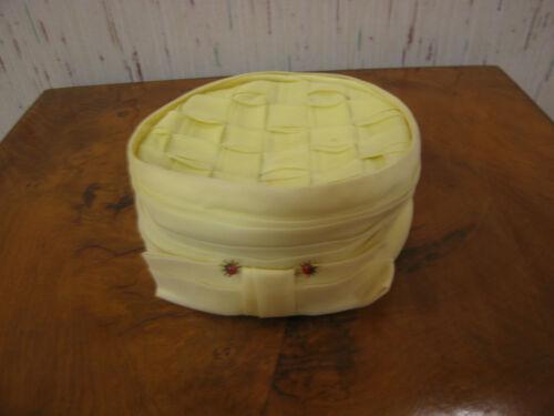 Vintage Yellow Modernette Stix Baer & Fuller Hat
