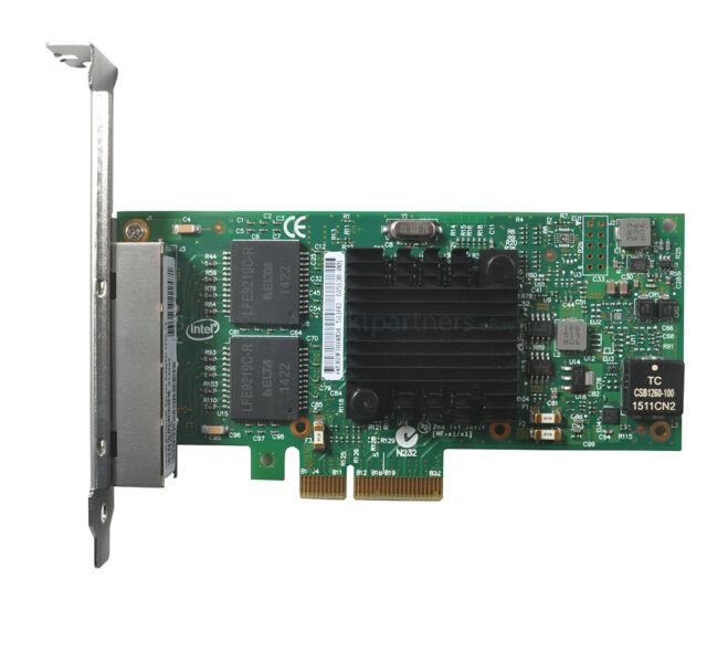 New Four RJ45 Gigabit Ports Server Adapte for Intel I350-T4 PCI-Express PCI-E US