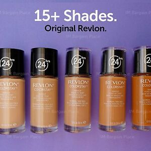 NEW-REVLON-COLORSTAY-24HRS-FOUNDATION-COMB-OILY-or-NORMAL-DRY-SKIN-FRESH-Shades