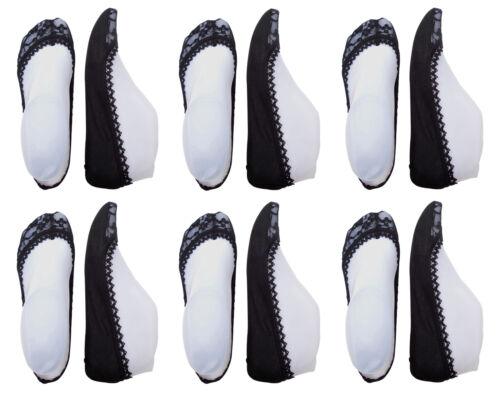 Chex 6 Paires Secret Chaussettes Lacets Femmes Invisible Ballerine