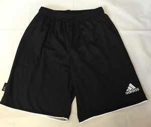 32acd0fa18 ADIDAS PARMA II FOOTBALL SHORTS WITH BRIEF BLACK  WHITE SIZE SMALL ...