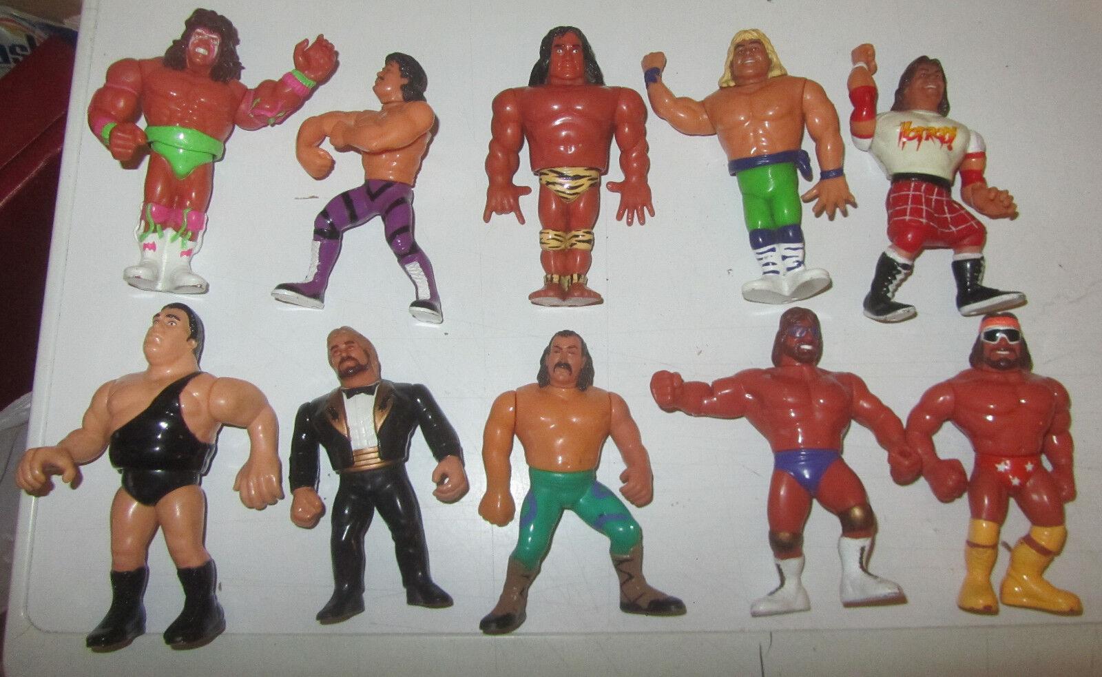 Lotto  07 10 Wrestler Wrestler Wrestler anni 90 action figures Vintage Wrestling wwf SPESE GRATIS 7182d0