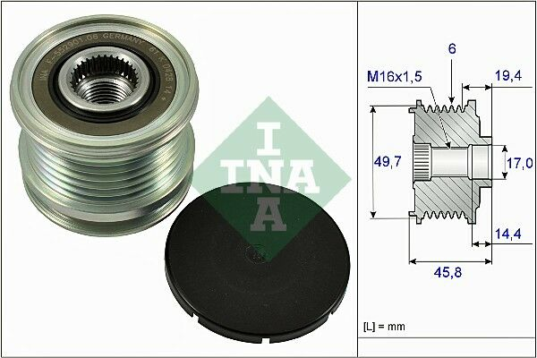 Generatorfreilauf INA 535 0015 10