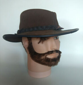 BC-Outback-Australian-Hat-Cowboy-Leather-Vintage-Fox-Fire-Brown-L-Made-Australia